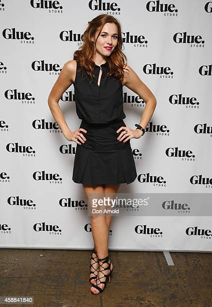Demi Harman arrives at the Glue Store summer launch party at Simmer on the bay on November 12 2014 in Sydney Australia
