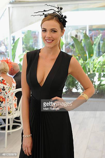 Demi Harman poses during Magic Millions Race Day at Gold Coast Racecourse on January 10 2015 on the Gold Coast Australia