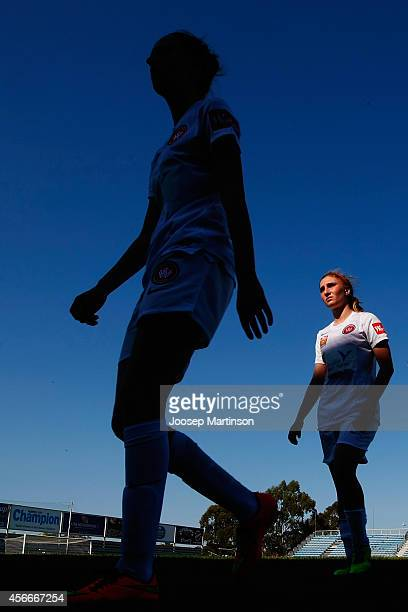 Demi Koulizakis of the Wanderers walks off the pitch after the round four WLeague match between Western Sydney and Perth Glory at Marconi Stadium on...