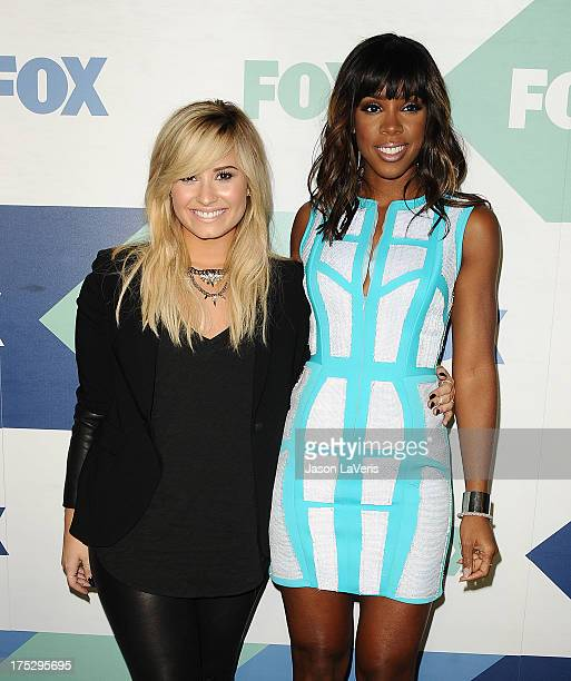 Demi Lovato and Kelly Rowland attend the FOX AllStar Party on August 1 2013 in West Hollywood California