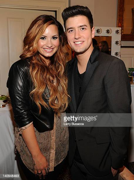 Demi Lovato and Logan Henderson attend Nickelodeon Hosts Orange Carpet Premiere For Original TV Movie Big Time Movie Starring Big Time Rush at 583...