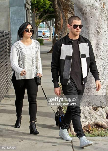Demi Lovato and Nick Jonas seen on January 27 2016 in Los Angeles California