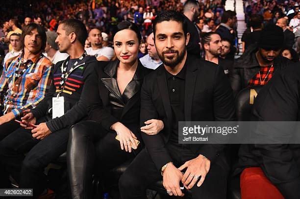 Demi Lovato And Wilmer Valderrama During The Ufc Three Event At The Mgm Grand Garden Arena