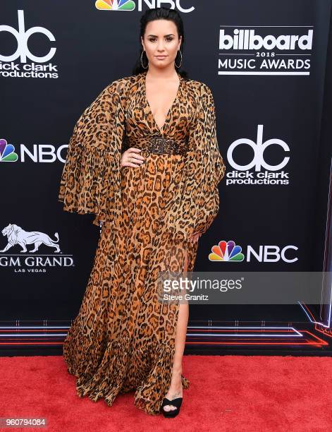 Demi Lovato arrives at the 2018 Billboard Music Awards at MGM Grand Garden Arena on May 20 2018 in Las Vegas Nevada