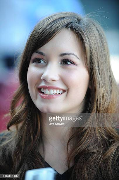Demi Lovato arrives at the City of Hope Benefit Concert with Miley Cyrus Jonas Brother at the Gibson Amphitheater at Universal City Walk in Los...