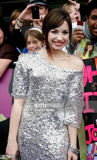 Demi Lovato arrives at the European premiere of 'Camp Rock' at the Royal Festival Hall on September 10 2008 in London England