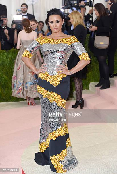 """Demi Lovato arrives for the """"Manus x Machina: Fashion In An Age Of Technology"""" Costume Institute Gala at Metropolitan Museum of Art on May 2, 2016 in..."""