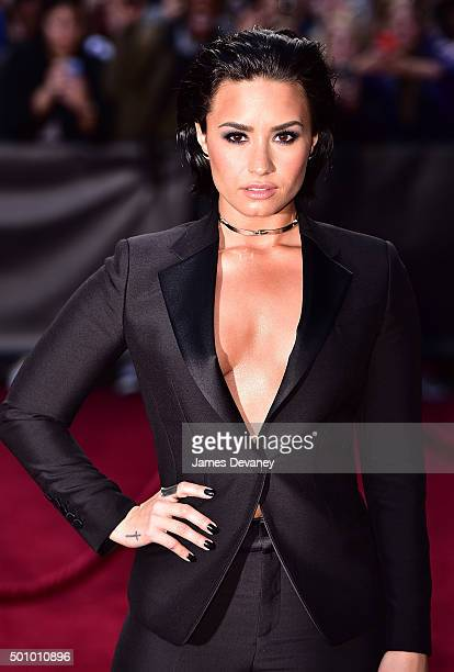 Demi Lovato arrives to Billboard's 10th Annual Women In Music at Cipriani 42nd Street on December 11, 2015 in New York City.