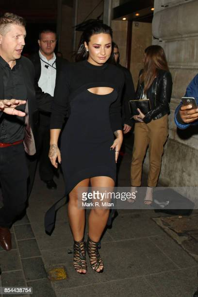 Demi Lovato arriving at the Cuckoo Club on September 26 2017 in London England