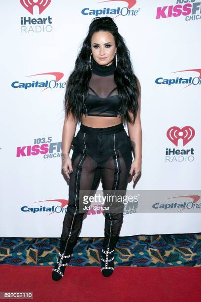 Demi Lovato attends 1035 KISS FM's iHeartRadio Jingle Ball 2017 on December 13 2017 in Chicago Illinois