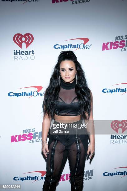 Demi Lovato attends 1035 KISS FM's iHeartRadio Jingle Ball 2017 on December 13 2017 in Chicago Illinois