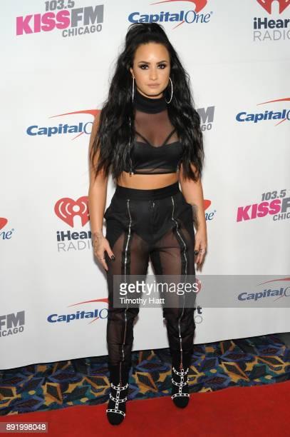 Demi Lovato attends 1035 KISS FM's Jingle Ball 2017 at Allstate Arena on December 13 2017 in Rosemont Illinois