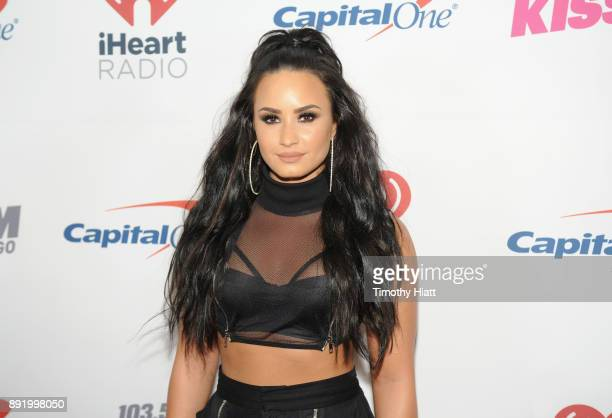 Demi Lovato attends 1035 KISS FM's Jingle Ball 2017 at Allstate Arena on December 13 2017 in Rosemont Illinois