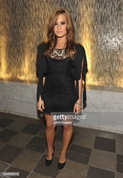 "Demi Lovato attends ""ARCADE Boutique Presents The Autumn Party"" at The London Hotel on September 29, 2010 in West Hollywood, California."