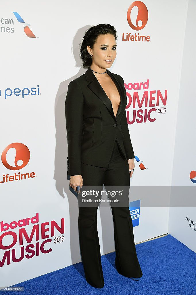Demi Lovato attends Billboard's 10th Annual Women In Music at Cipriani 42nd Street on December 11, 2015 in New York City.