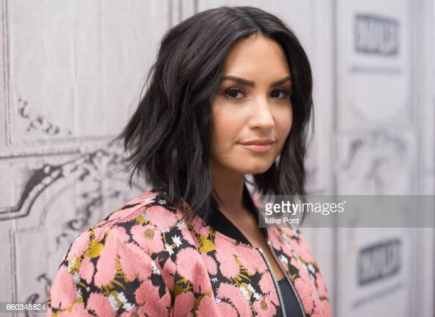Demi Lovato attends Build Series to discuss 'Smurfs The Lost Village' at Build Studio on March 20 2017 in New York City