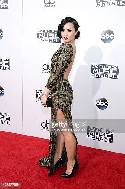 Demi Lovato attends the 2015 American Music Awards at Microsoft Theater on November 22 2015 in Los Angeles California