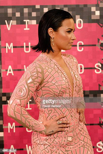 Demi Lovato attends the 2015 MTV Video Music Awards at Microsoft Theater on August 30 2015 in Los Angeles California