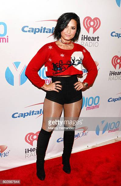 Demi Lovato attends the 2015 Y100 Jingle Ball at BBT Center on December 18 2015 in Sunrise Florida