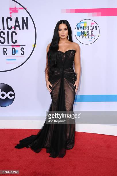 Demi Lovato attends the 2017 American Music Awards at Microsoft Theater on November 19 2017 in Los Angeles California