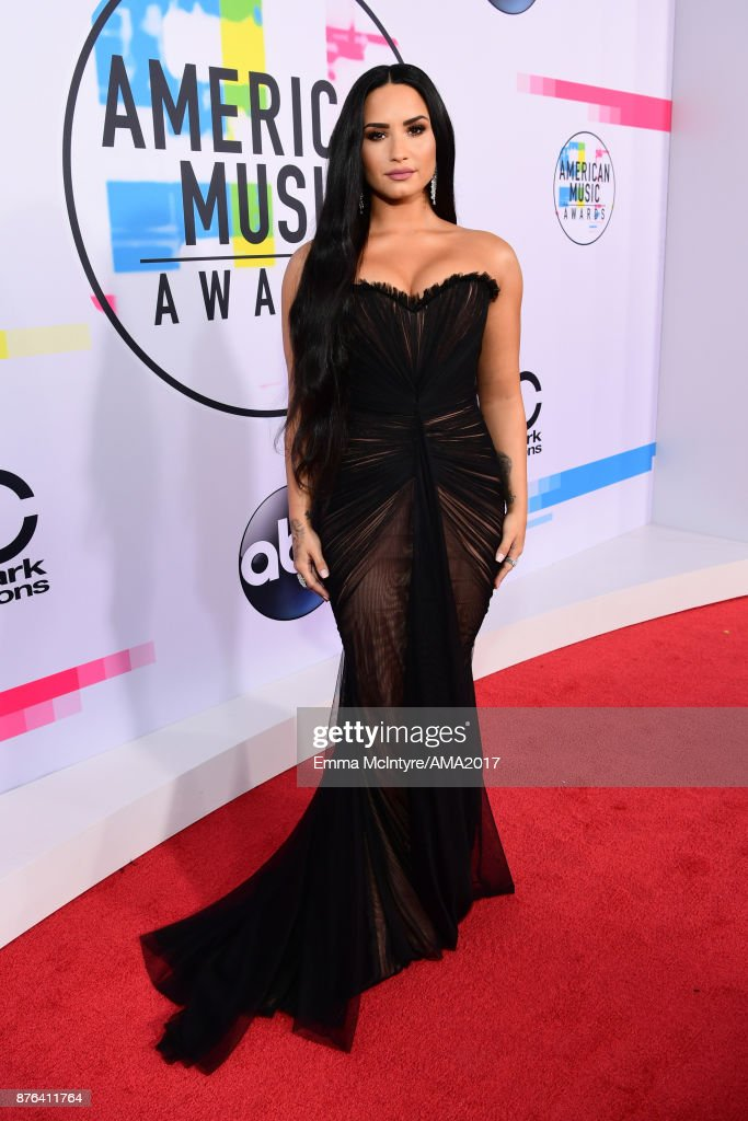 Black Attire at the American Music Awards