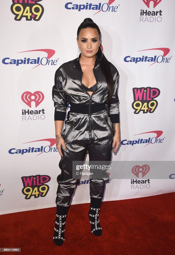 Demi Lovato attends the 2017 WiLD 94.9 FM iHeartRadio Jingle Ball at SAP Center on November 30, 2017 in San Jose, California.