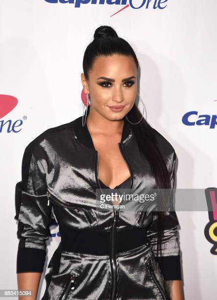 Demi Lovato attends the 2017 WiLD 949 FM iHeartRadio Jingle Ball at SAP Center on November 30 2017 in San Jose California