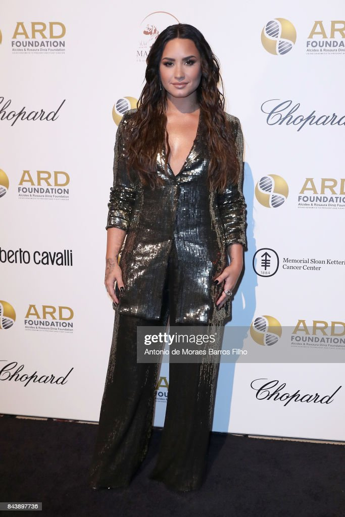 Demi Lovato attends the Alcides & Rosaura (ARD) Foundations' 'A Brazilian Night' to Benefit Memorial Sloan Kettering Cancer Center (MSK) at Cipriani 42nd Street on September 7, 2017 in New York City.