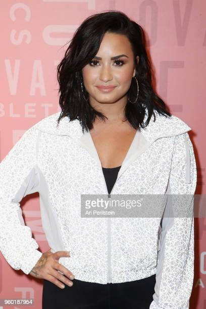 Demi Lovato attends the Demi Lovato visits Fabletics at The Village at Westfield Topanga on May 18 2018 in Woodland Hills California