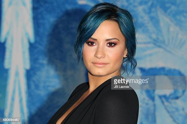 Demi Lovato attends the Disney's Frozen Los Angeles premiere held at the El Capitan Theatre on November 19 2013 in Hollywood California