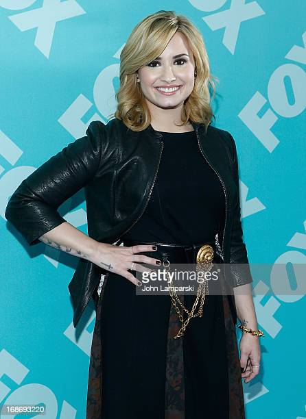 Demi Lovato attends the FOX 2103 Programming Presentation PostParty at Wollman Rink Central Park on May 13 2013 in New York City