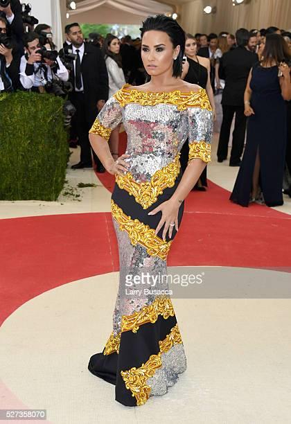 Demi Lovato attends the 'Manus x Machina Fashion In An Age Of Technology' Costume Institute Gala at Metropolitan Museum of Art on May 2 2016 in New...