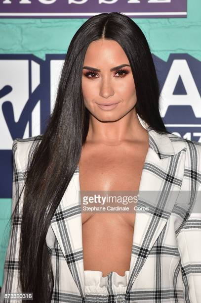 Demi Lovato attends the MTV EMAs 2017 at The SSE Arena Wembley on November 12 2017 in London England
