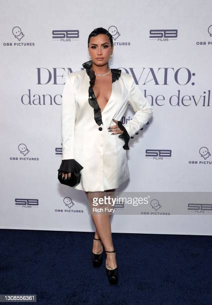 """Demi Lovato attends the OBB Premiere Event for YouTube Originals Docuseries """"Demi Lovato: Dancing With The Devil"""" at The Beverly Hilton on March 22,..."""