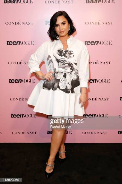 Demi Lovato attends the Teen Vogue Summit 2019 at Goya Studios on November 02 2019 in Los Angeles California