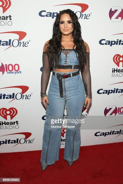 Demi Lovato attends the Z100's Jingle Ball 2017 press room on December 8 2017 in New York City