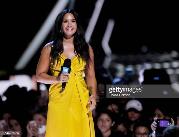 Demi Lovato attends 'We Day' California 2017 at The Forum on April 27 2017 in Inglewood California