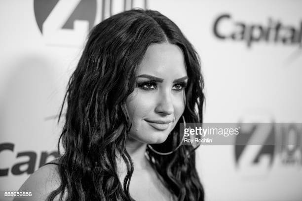 Demi Lovato attends Z100's iHeartRadio Jingle Ball 2017 at Madison Square Garden on December 8 2017 in New York City
