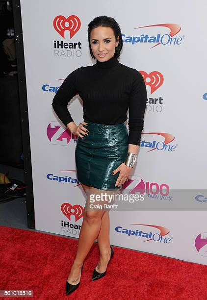 Demi Lovato attends Z100's Jingle Ball 2015 at Madison Square Garden on December 11 2015 in New York City