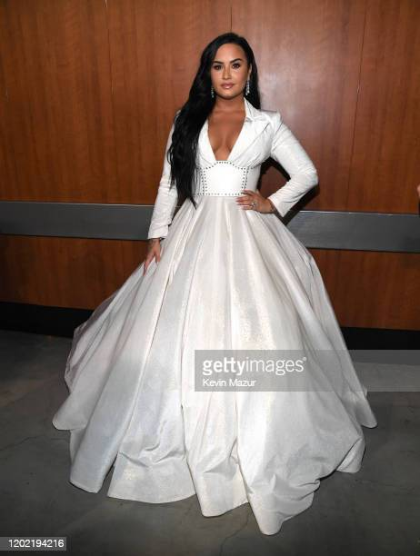 Demi Lovato during the 62nd Annual GRAMMY Awards at STAPLES Center on January 26 2020 in Los Angeles California