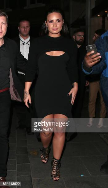 Demi Lovato hosts party to celebrate the release of her forthcoming album Tell Me You Love Me at The Cuckoo Club on September 26 2017 in London...