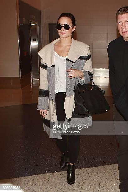 Demi Lovato is seen at LAX on January 20 2016 in Los Angeles California