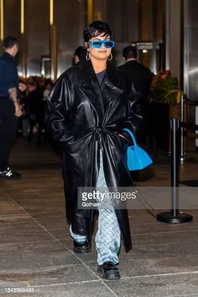Demi Lovato is seen in Midtown on September 29, 2021 in New York City.