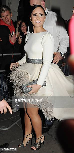 Demi Lovato is seen leaving the Royal Variety Performance at the Palladium Theatre on November 13 2014 in London England