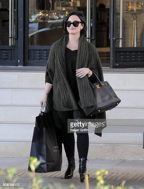 Demi Lovato is seen on February 03 2016 in Los Angeles California