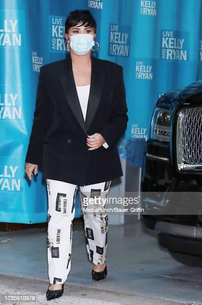 Demi Lovato is seen on September 30, 2021 in New York City.