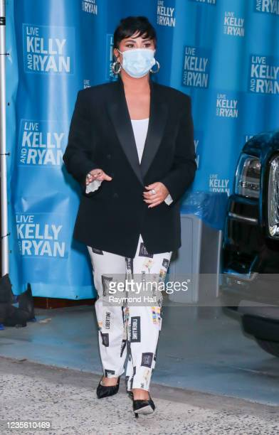 Demi Lovato is seen outside on September 30, 2021 in New York City.