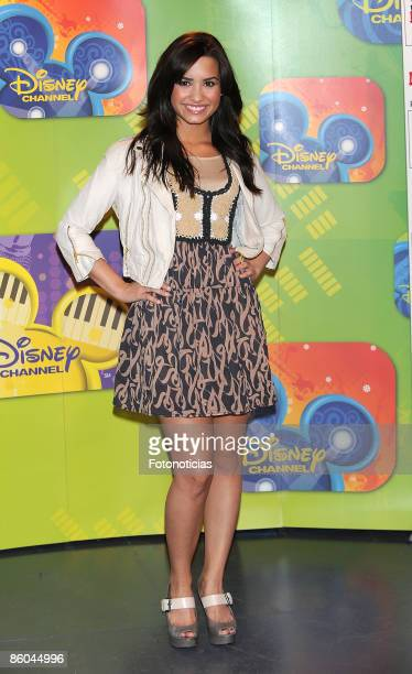 Demi Lovato launches the new Disney TV and music season, at Disney Channel building on April 20, 2009 in Madrid Spain.