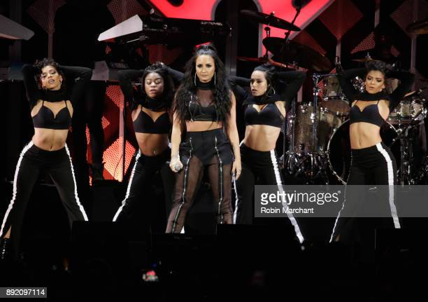 Demi Lovato performs at 1035 KISS FM's iHeartRadio Jingle Ball 2017 on December 13 2017 in Rosemont Illinois