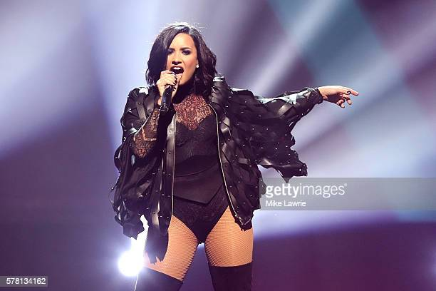 Demi Lovato performs at TD Garden on July 20 2016 in Boston Massachusetts
